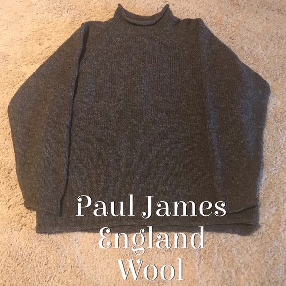 ae8f16e9993fa 🔥Paul James Roll neck wool sweater made in UK. M 5be0d5b7e944ba8f18b799a0